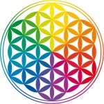 Flower of Life and Rainbow Colors - Blume des Lebens